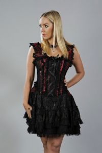 Jasmin Red & Black Corset Dress